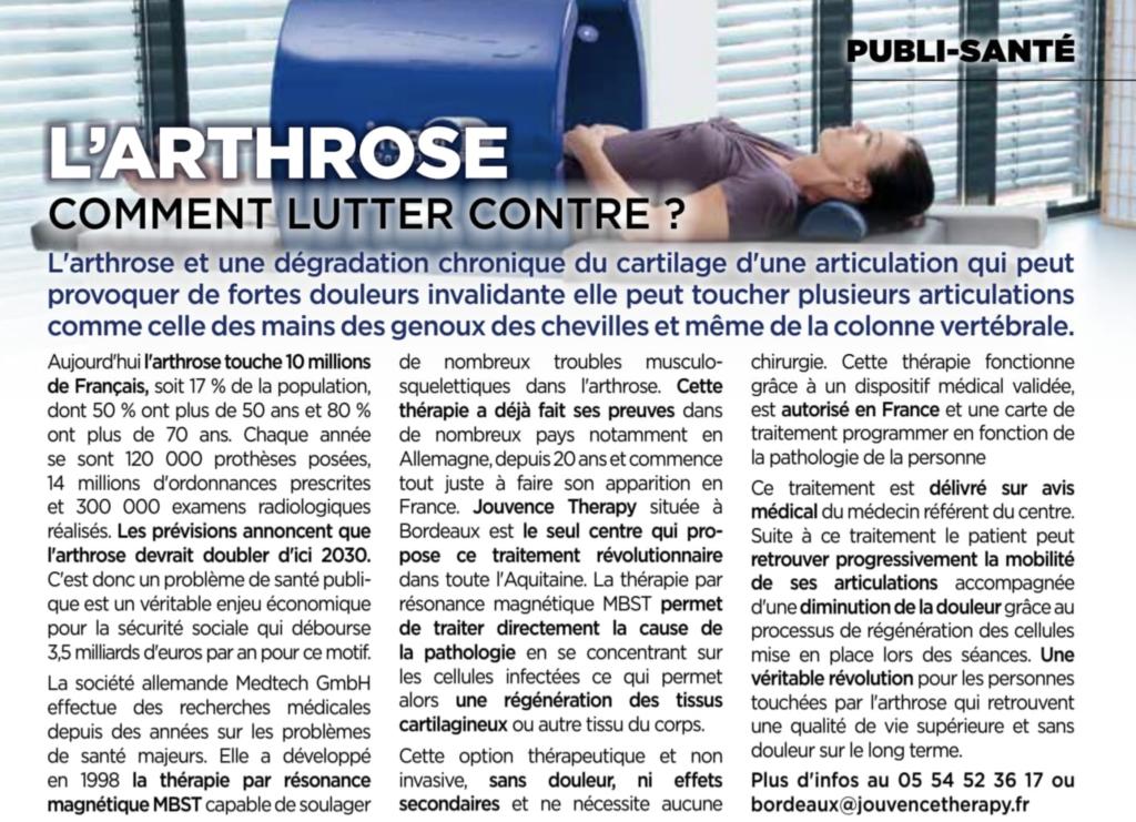 Décembre 2018 : Lutter contre l'arthrose à Bordeaux !